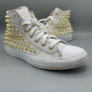 Womens Converse Studded High Top Sneaker Shoes 8